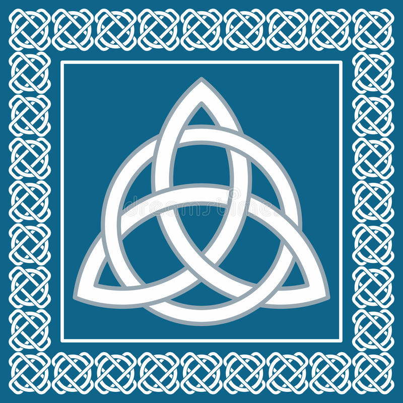 Ancient symbol triskel, traditional celtic element,vector vector illustration