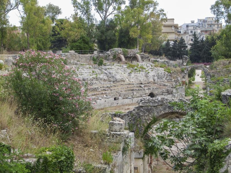 Ancient Syracuse in Sicily stock image