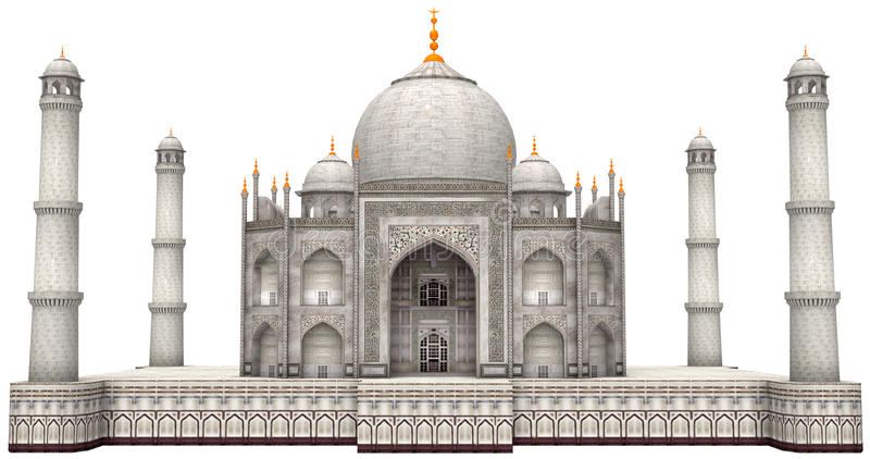 Ancient Taj Mahal Illustration Isolated vector illustration