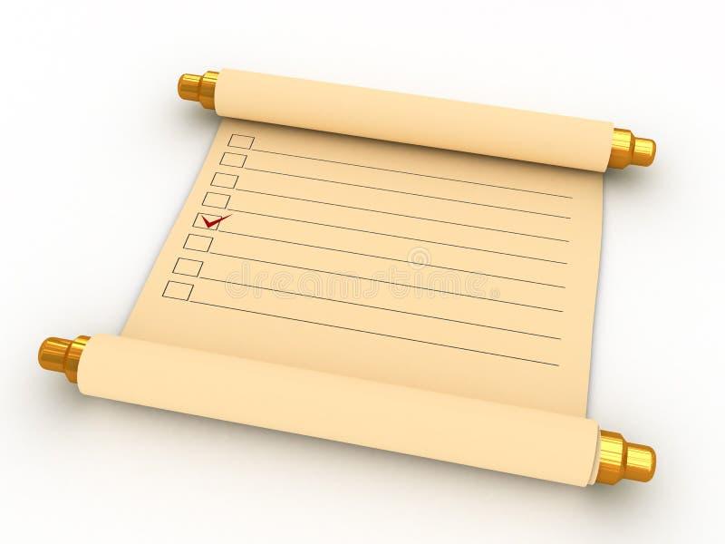 Ancient Task List Stock Image