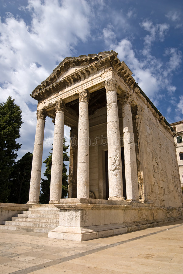 Download The Ancient Temple Of Augustus Stock Image - Image: 8195137