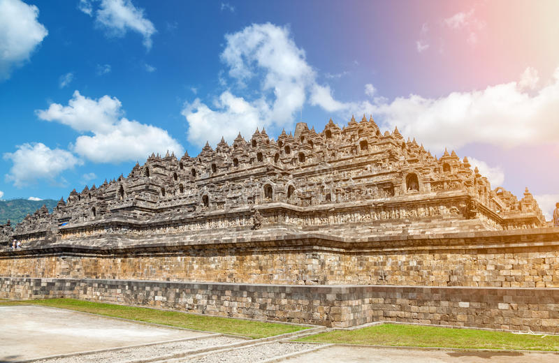 Ancient temple of Borobudur in Indonesia stock image
