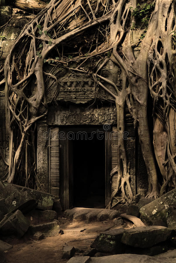 Ancient temple in Cambodia stock photography