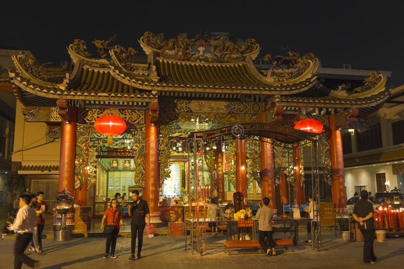 Ancient temple. Chinatown in Bangkok, , Thailand stock photos