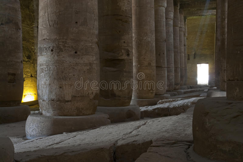 The ancient temple of Dendera in Egypt royalty free stock photo