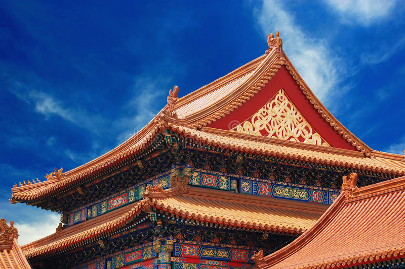 Ancient temple in Forbidden City royalty free stock images