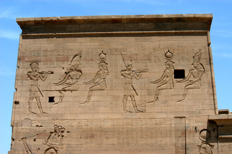 Ancient temple on the island of Philae stock photos