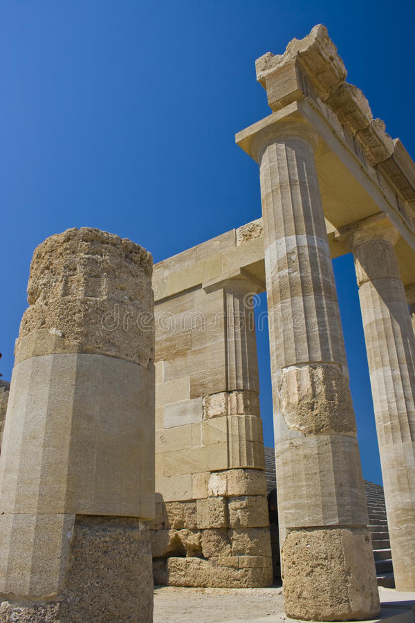 Download Ancient temple of Lindos stock image. Image of destination - 21221591