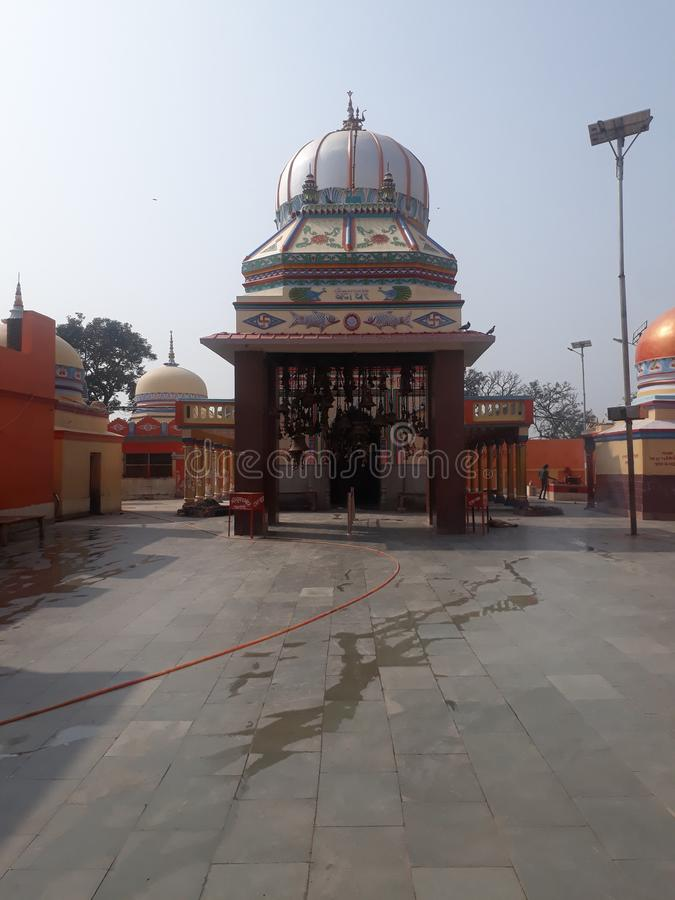 Ancient Temple of lord shiva Mahendra nath siwan. This temple is of Lord Shiva. It is located in Siwan district of Bihar state, India. This primeval temple royalty free stock images