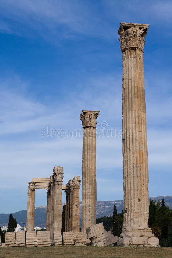 Ancient Temple of Olympian Zeus in Athens Greece