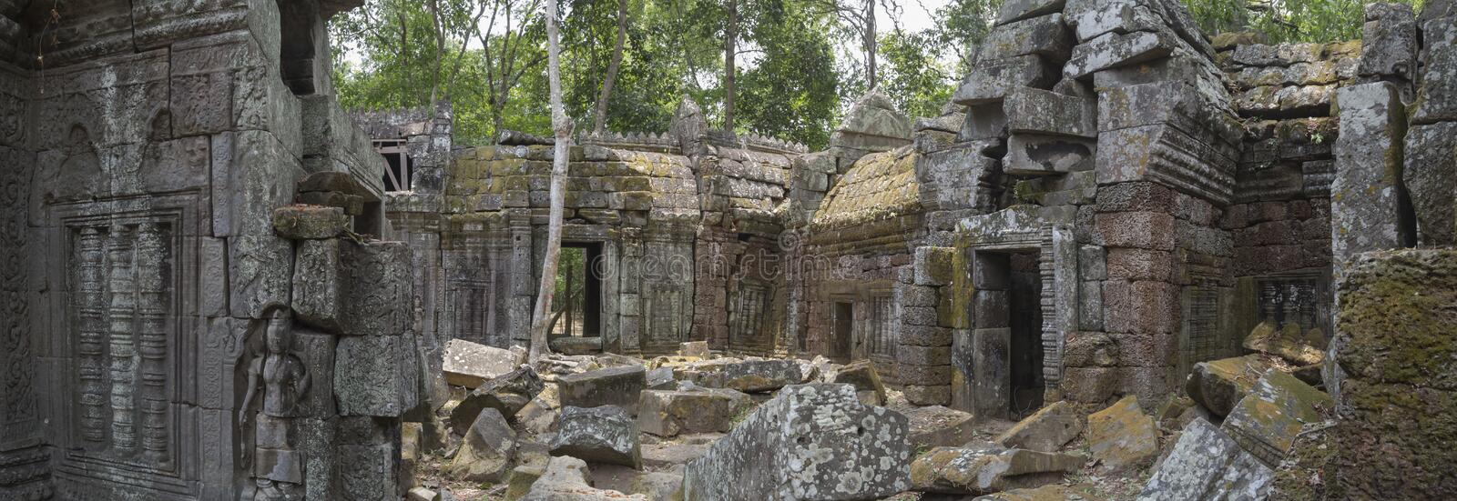 Ancient temple panoramic view royalty free stock photo