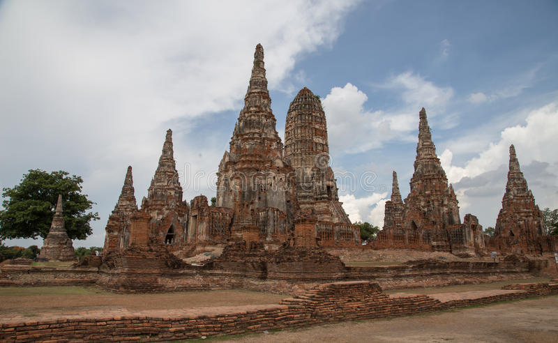 Ancient temple ruins in Ayudhya Thailand royalty free stock photo