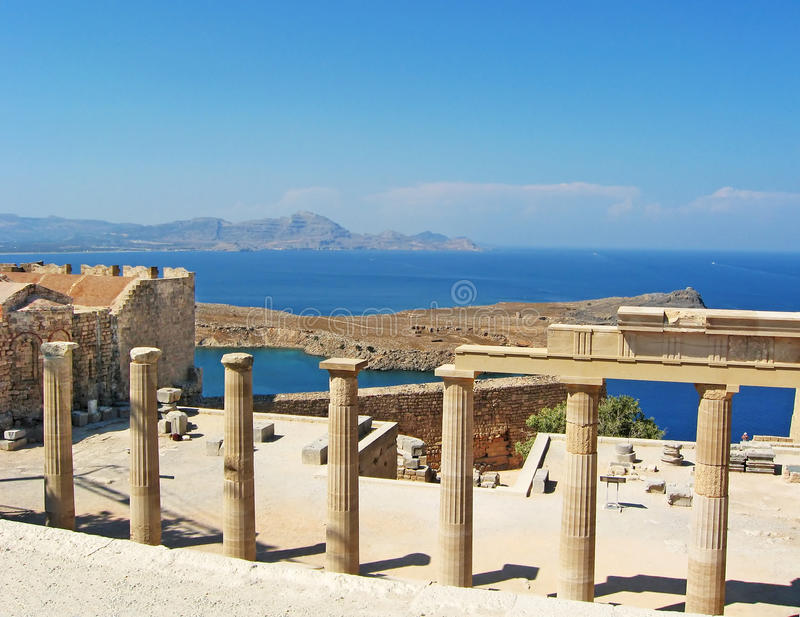 Download Ancient Temple Ruins In Rhodos Stock Photo - Image: 23552566