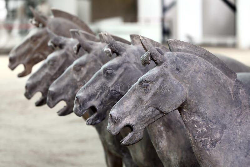 Ancient terra cotta horse stock images