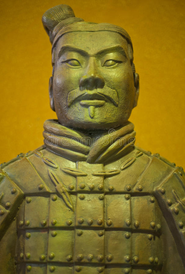 Ancient terracotta army warrior royalty free stock images