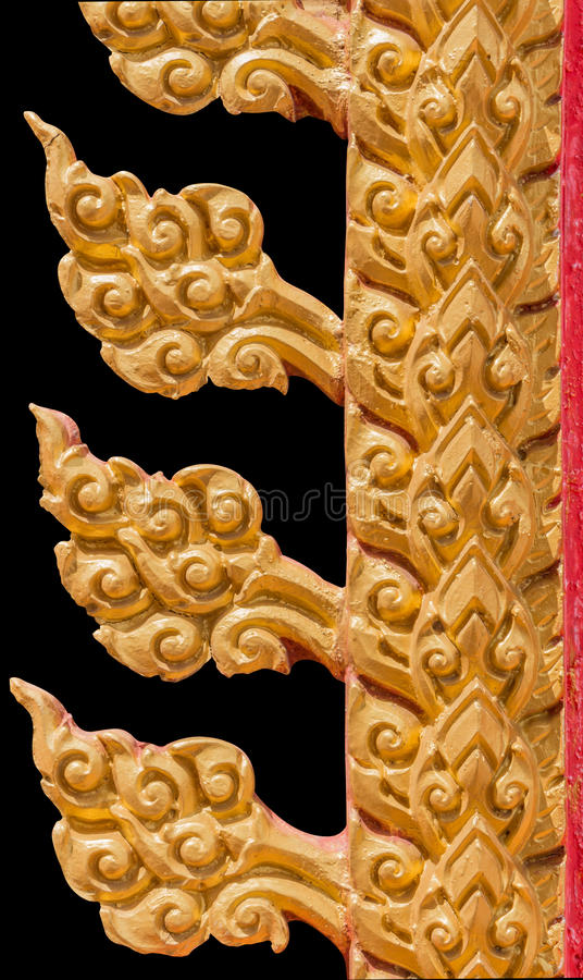 Ancient Thai art isolated on black background. With clippingpath royalty free stock photo