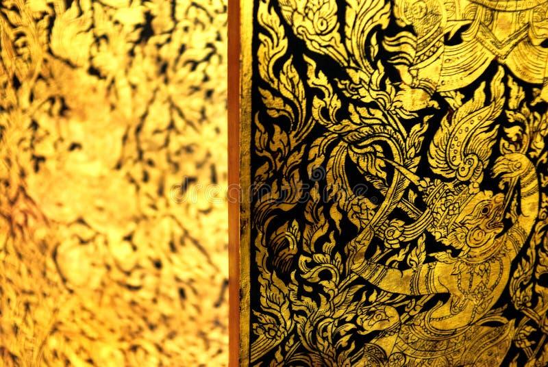 Download Ancient Thai Pattern On Door Stock Image - Image: 25837805