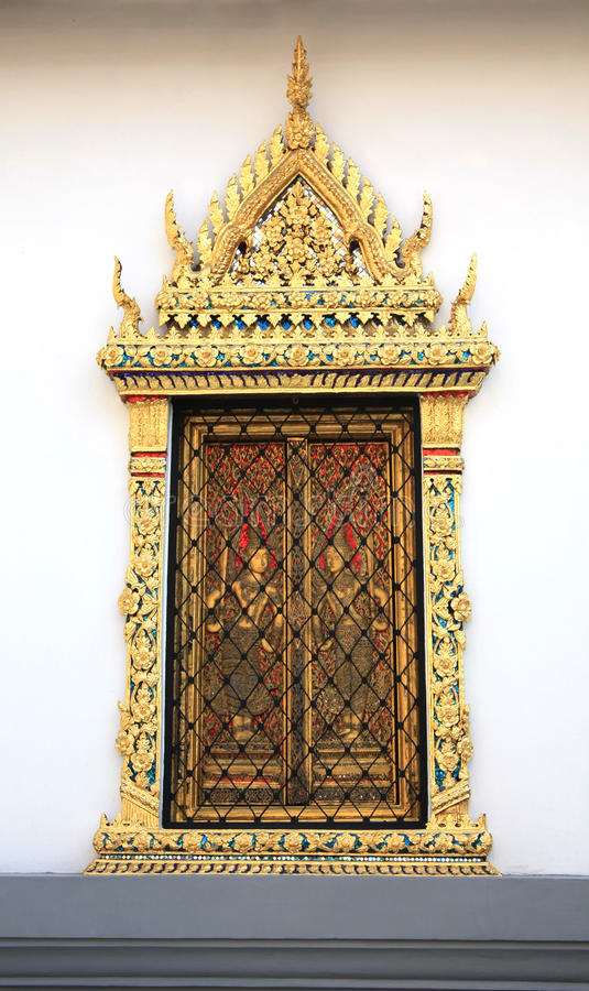 Ancient Thai pattern style wall royalty free stock image