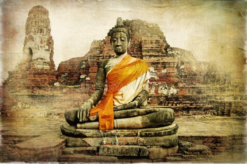 Ancient Thailand stock illustration