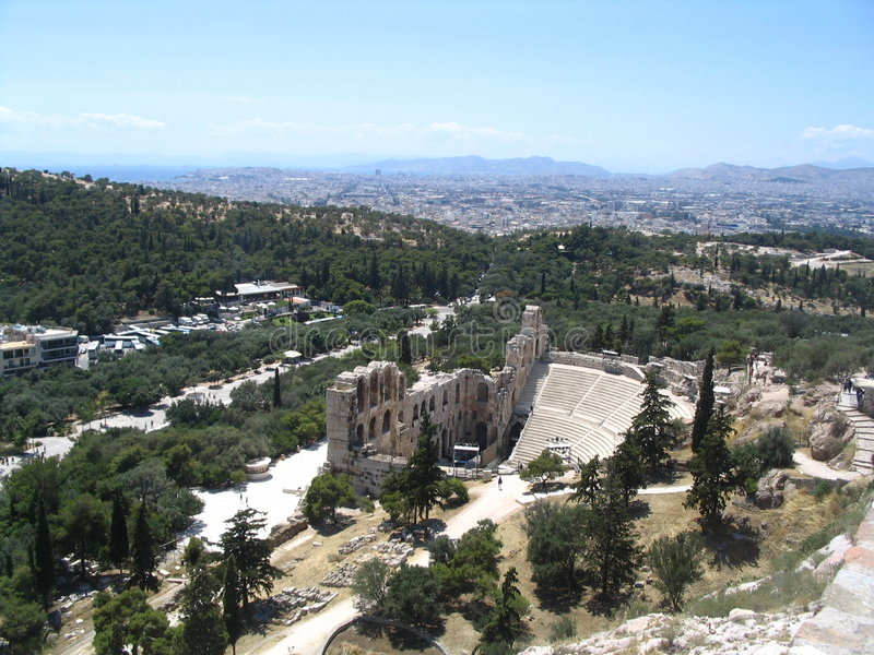 Download Ancient theatre stock photo. Image of blue, architect, greece - 718688