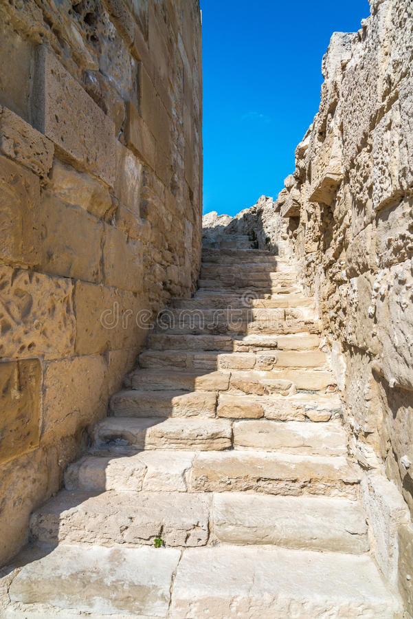 Ancient theatre and ruins, Kourion, Cyprus stock image