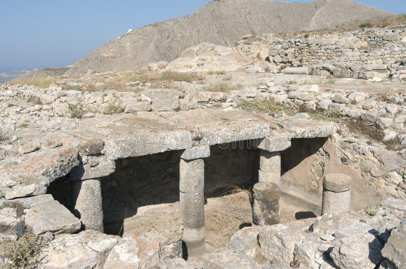 Ancient Thera. Ancient Thera on Santorini island in Greece stock photo
