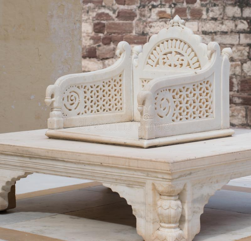 Ancient throne of a King stock photography