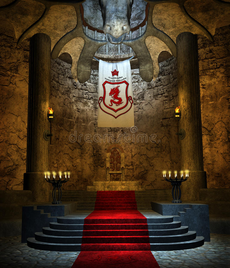 Free Ancient Throne Room 2 Royalty Free Stock Photos - 14131438
