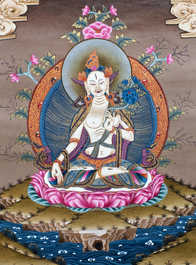 Free Ancient Tibetan Tangka Royalty Free Stock Photography - 22375727