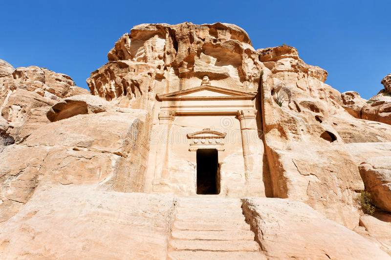 Download Ancient Tomb Near The Entrance In Little Petra Stock Image - Image: 24226341