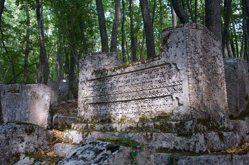 Download Ancient Tombstones In The Woods Stock Image - Image: 11365977