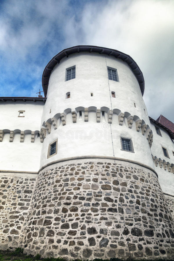 Ancient tower. Tower of the ancient castle stock photography