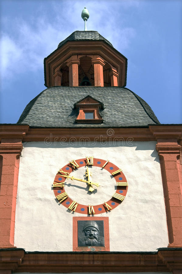 Ancient tower of Middle Rhine Museum in Koblenz. Germany, city Koblenz, German federal state Rhineland-Palatinate, still life of the former Store and Dance Hall stock photography