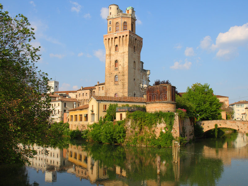 Download Ancient tower in Padua stock image. Image of history, river - 5430841