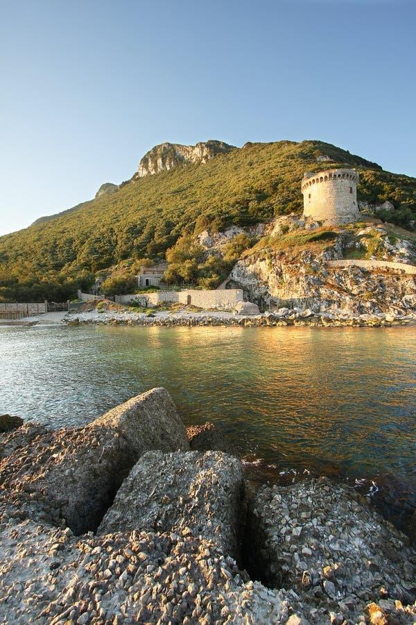 Download Ancient Tower at sea stock photo. Image of rocks, tree - 26591104