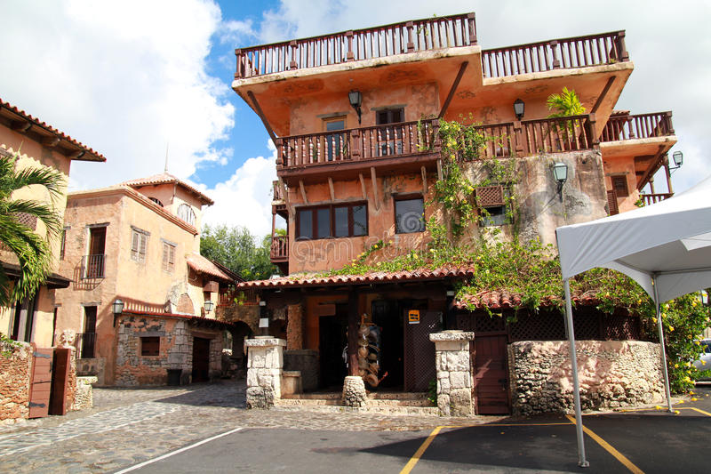 Ancient town Altos de Chavon. Dominican Republic stock images