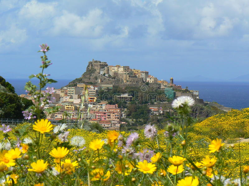 Ancient town of Castelsardo, Sardinia royalty free stock image