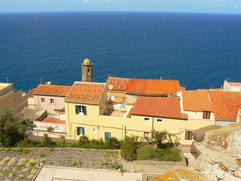 Ancient town of Castelsardo, Sardinia stock photo