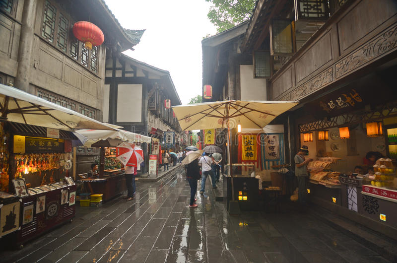 Ancient town of Chengdu stock photo
