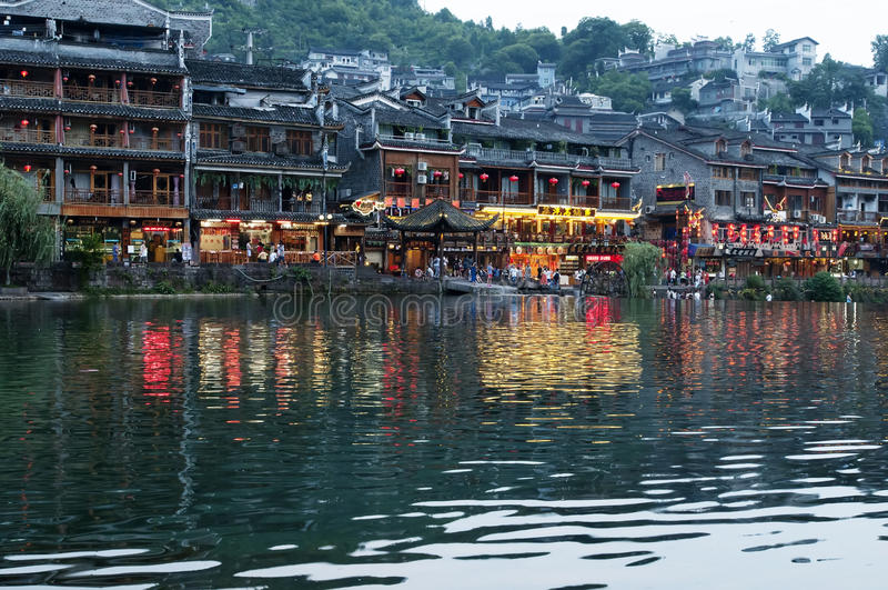 Download The Ancient Town Of FengHhuang Editorial Stock Photo - Image of bridges, fenghhuang: 32822448