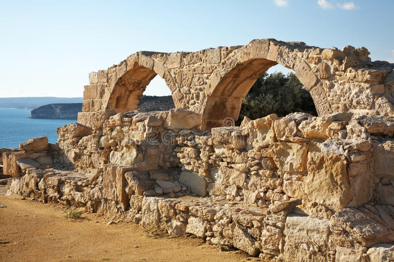 Ancient town in Kourion. Cyprus stock images