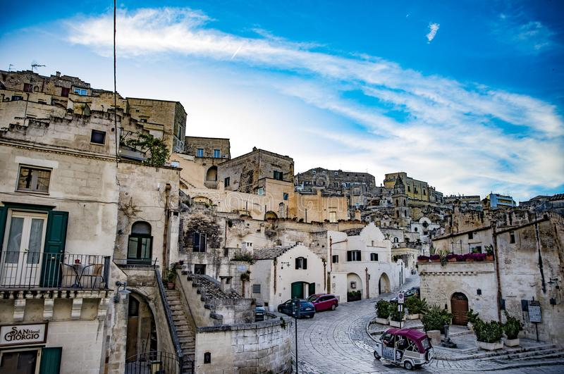 Ancient town of Matera Sassi di Matera. Basilicata, southern Italy. royalty free stock photo