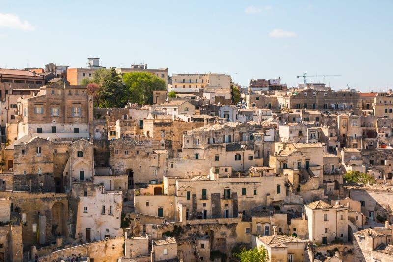 Ancient town of Matera Sassi di Matera, Basilicata, southern Italy stock image