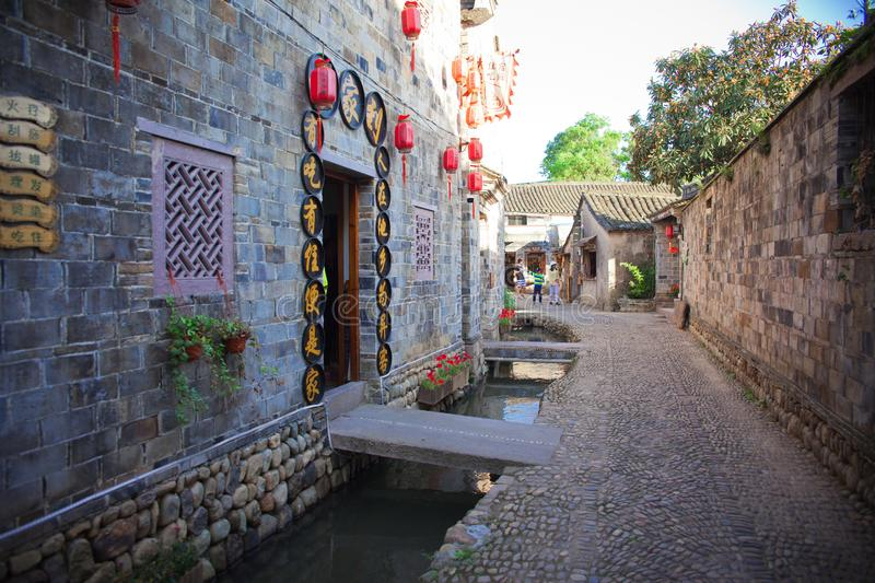 Ancient town named qiantong in Ningbo of China royalty free stock photography