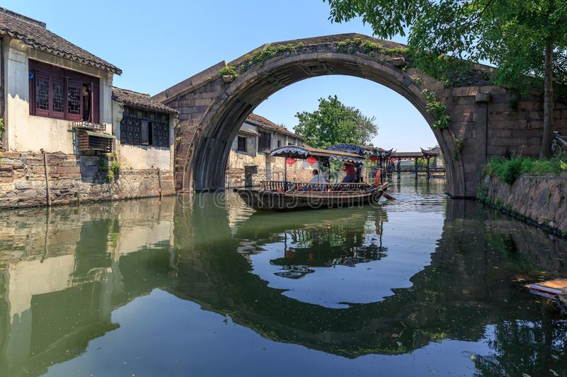 The south of the lower reaches of the Yangze River. The ancient town at south of the lower reaches of the Yangze River royalty free stock image