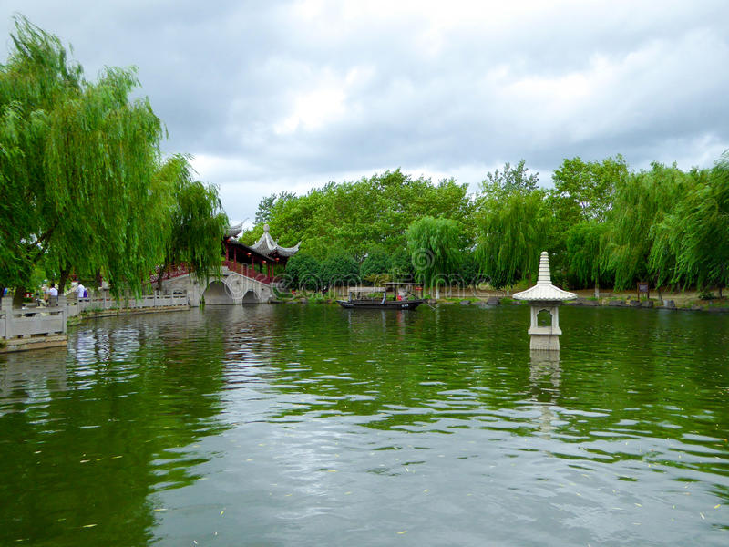 The ancient town of Xitang view stock photos