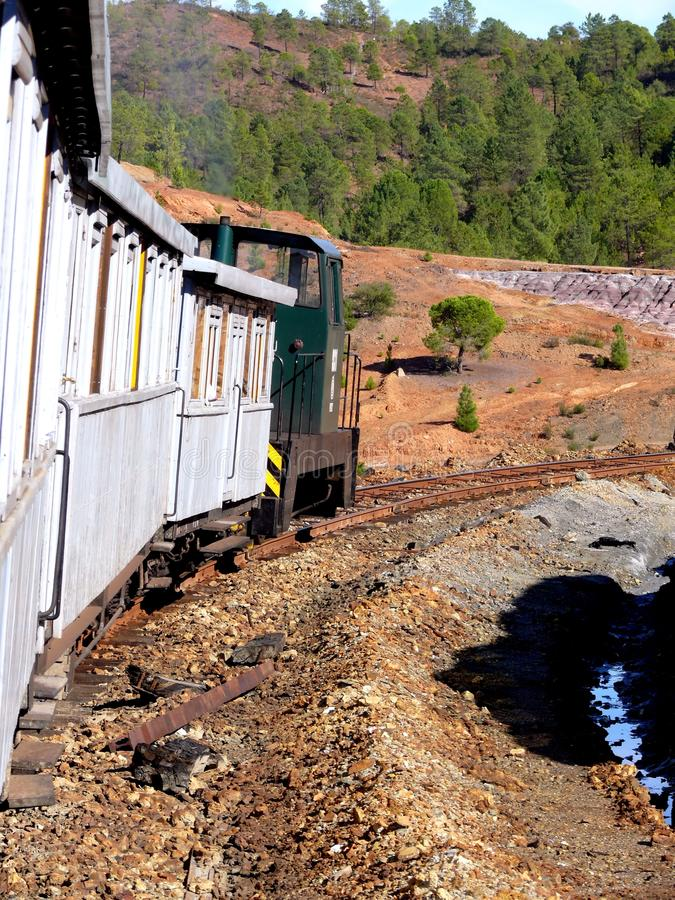 Ancient train in Riotinto royalty free stock photo