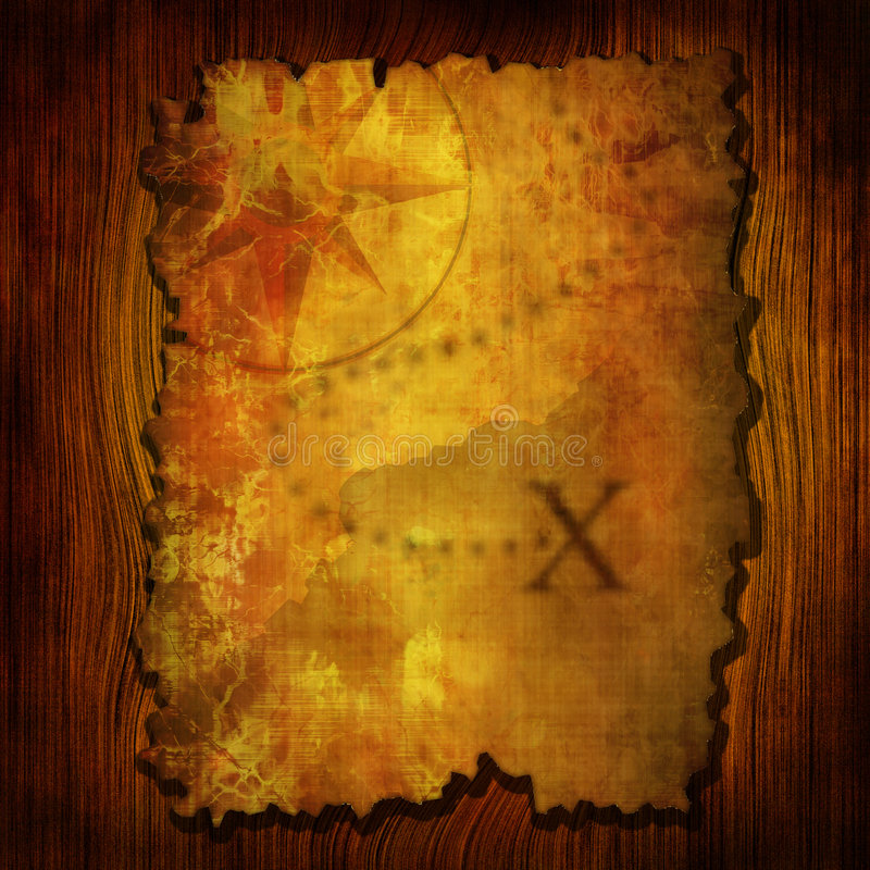 Free Ancient Treasure Map Stock Images - 4181124