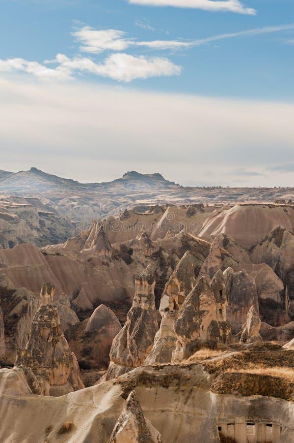 Ancient Tuff Stone Caves Landscape In Cappadocia Royalty Free Stock Photos