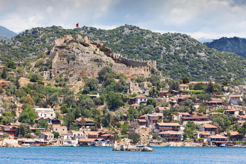 Download Ancient Turkish Castle On The Hill Stock Image - Image: 21407503